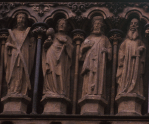 14. Andrew and His Cross on the Left, Apostles Gallery, Wells Cathedral