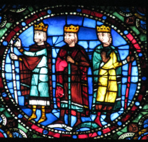 Three Magi Meet with King Herod, Life of Christ Window, Chartres Cathedral