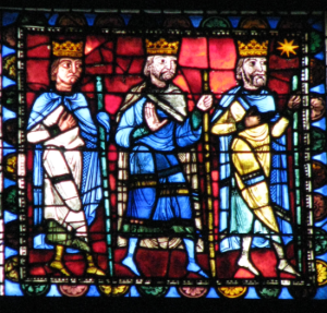 Magi Departing Bethlehem, Life of Christ Window, Chartres Cathedral