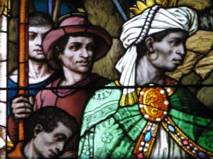 African Magi Detail, Church of the Gesu, Milwaukee