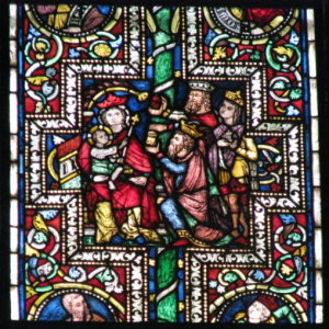 Adoration of the Magi in the Elder Biblical Window (ca. ), Cologne Cathedral, Germany