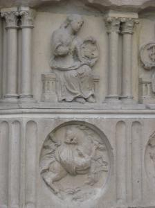 2. Humility & Pride, Allegorical Figures, Notre Dame Cathedral, Paris, France