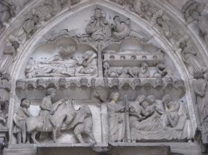 Tympanum, St. Martin (left) and St. Nicholas (right), Chartres Cathedral, France