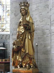 St. Gudula Statue, Cathedral of Sts. Michael & Gudula, Brussels