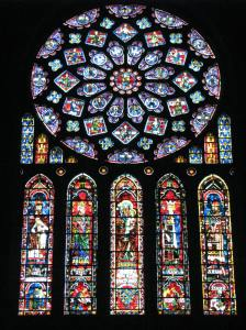 9. Rose of France Window  and Lancets in Chartres Cathedral's North Transept, France