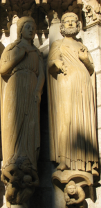 Queen of Sheba & King Solomon, Chartres Cathedral, France