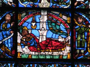 Jesse Sleeping, Jesse Tree Window, Chartres Cathedral, France