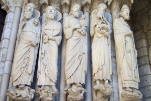 3. L-R, Isaiah, Jeremiah, Simeon, John the Baptist, St. Peter, Chartres Cathedral, France