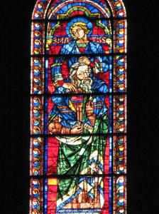 Lancet with Isaiah and Matthew, South Transept, Chartres Cathedral, France