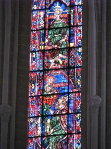 2. Isaiah (top) & Moses in Apse Lancet, Chartres Cathedral, France