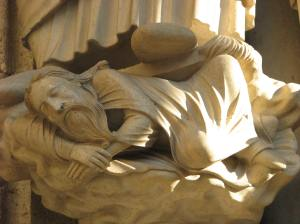Jesse Sleeping in Isaiah's Pedestal, Chartres Cathedral, France