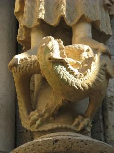 John the Baptist's Dragon Pedestal, Chartres Cathedral, France
