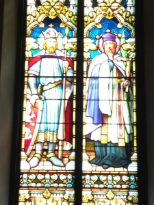4. St. Wenceslas (L) and St. John Nepomuk (R); St. Wenceslauds Church, New Prague, MN